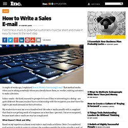 How to Write a Sales E-mail