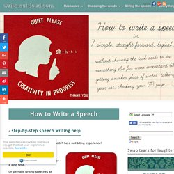 How to Write a Speech - step by step help