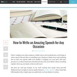 How to write a speech for any occasion