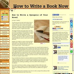 Write a synopsis of your novel