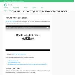 How to write test cases - EasyQA