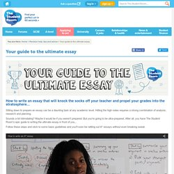 How to write the ultimate essay