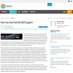 How You Can Find the Dell Support