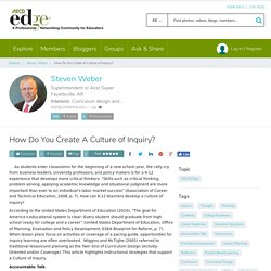 How Do You Create A Culture of Inquiry?