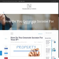 How Do You Generate Income For Your IP?