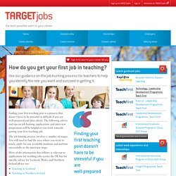 How do you get your first job in teaching?