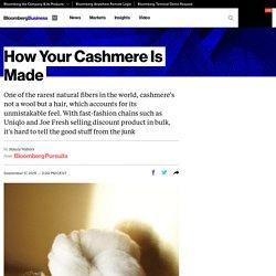 Como sua caxemira é feita - Bloomberg Negócios