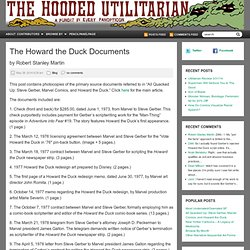 The Howard the Duck Documents
