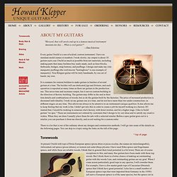 Howard Klepper: About my guitars