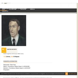 Howard Phillips Lovecraft - Livres, citations, photos et vidéos