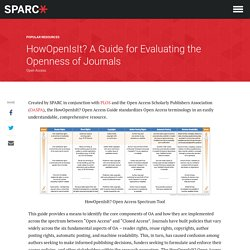 HowOpenIsIt? A Guide for Evaluating Open Access Journals