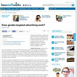 Does gender-targeted advertising work?""