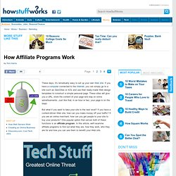 How Affiliate Programs Work""