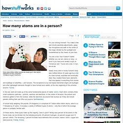 """How many atoms are in a person?"""""""