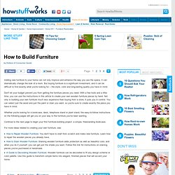 How to Build Furniture""