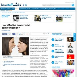 How effective is nonverbal communication?""