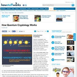 Using Quantum Cryptology""