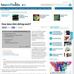 How does disk defrag work