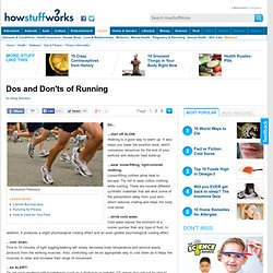 Dos and Don'ts of Running
