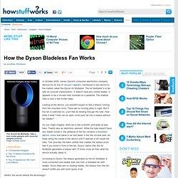 How the Dyson Bladeless Fan Works""