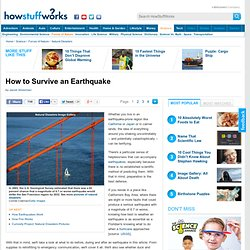 """How to Survive an Earthquake"""""""