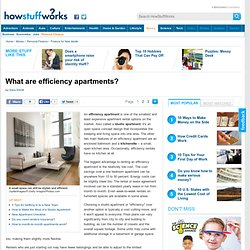 What are efficiency apartments?""