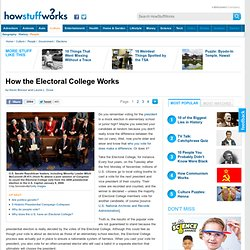 How the Electoral College Works""