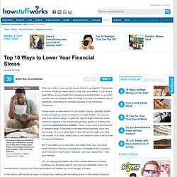 Top 5 Ways to Lower Your Financial Stress""
