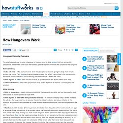 How Hangovers Work& - StumbleUpon