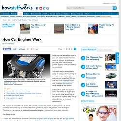 """How Car Engines Work"""""""