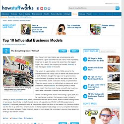 Top 10 Influential Business Models""