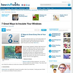 "TLC ""7 Great Ways to Insulate Your Windows"""