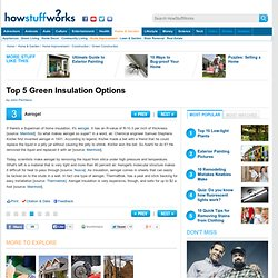 """Top 5 Green Insulation Options"""""""