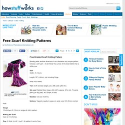 Free Scarf Knitting Patterns""