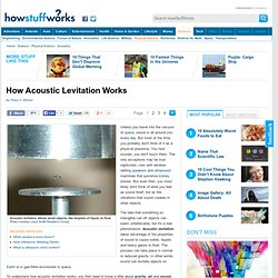 How Acoustic Levitation Works""