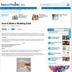 How to Make a Wedding Cake""