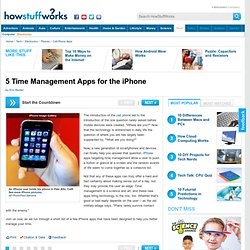 """5 Time Management Apps for the iPhone"""""""