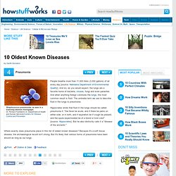 10 Oldest Known Diseases""
