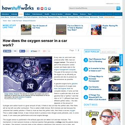 How does the oxygen sensor in a car work?""