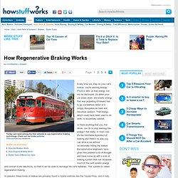 "How Regenerative Braking Works"""