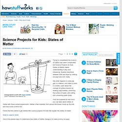 """Science Projects for Kids: States of Matter"""""""