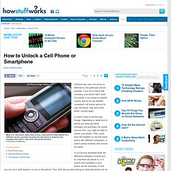 How to Unlock a Cell Phone or Smartphone""