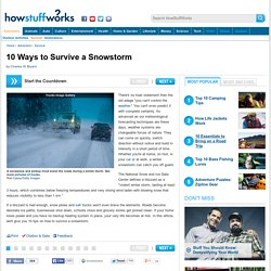 "Howstuffworks ""10 Ways to Survive a Snowstorm"""
