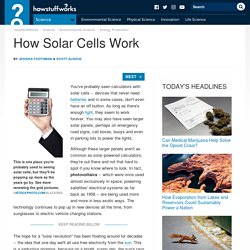 How Solar Cells Work""