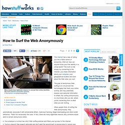 How to Surf the Web Anonymously&