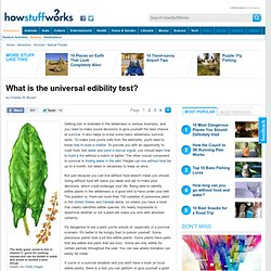 What is the universal edibility test?""
