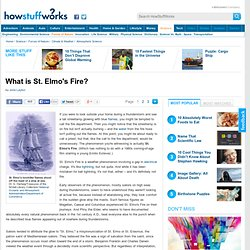 """What is St.Elmo's Fire?"""""""