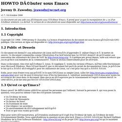 HOWTO Débuter sous Emacs