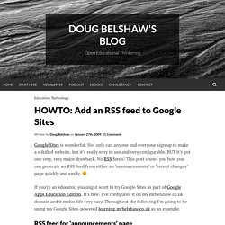 HOWTO: Add an RSS feed to Google Sites | Synechism