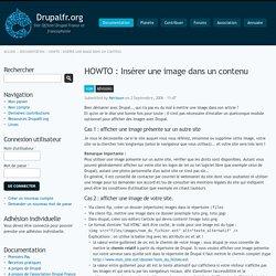 HOWTO : Insérer une image dans un contenu